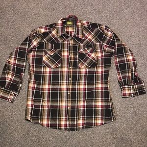 Thick flannel button up shirt